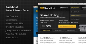 RACK HOST - WHMCS v5.x Theme Template Skin