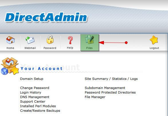 "[DirectAdmin] Sửa lỗi ""connection time out"" khi truy cập File Manager DA"